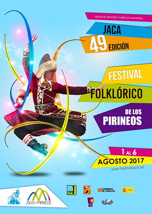 Cartel de la 49 edición del Festival Folklórico de los Pirineos 2017