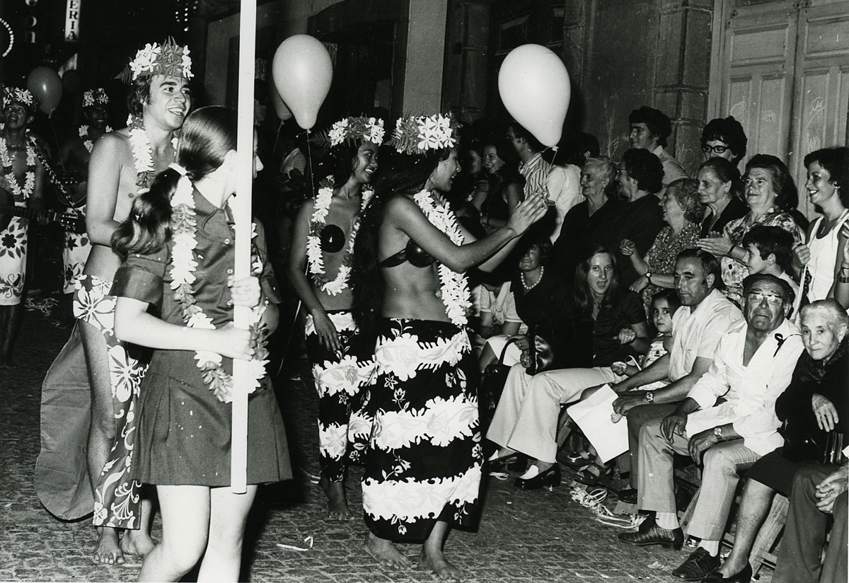 Festival Folklórico de los Pirineos 1973: Hawai. Foto: Archivo municipal