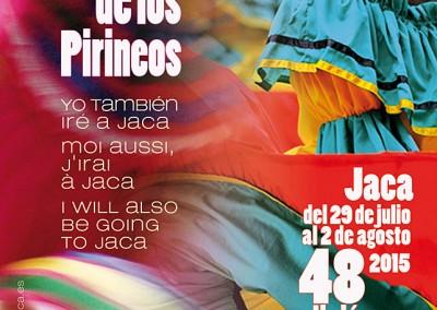 Cartel del Festival Folklórico de los Pirineos de Jaca 2015