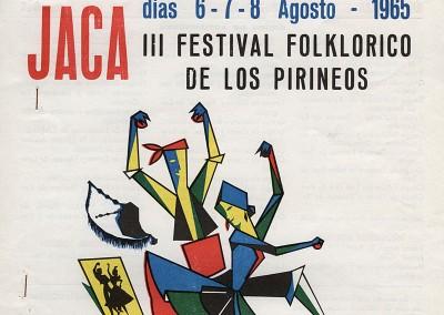 Año 1965. Festival Folklórico de los Pirineos de Jaca © Archivo Municipal