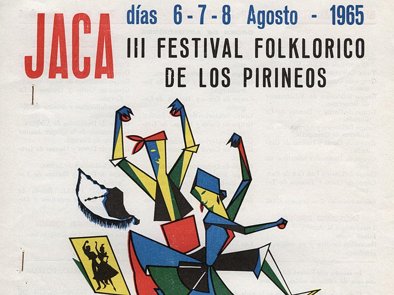 Fotos del Festival Folklórico de los Pirineos de Jaca. Año 1965