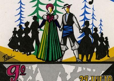 Año 1971. Festival Folklórico de los Pirineos de Jaca © Archivo Municipal