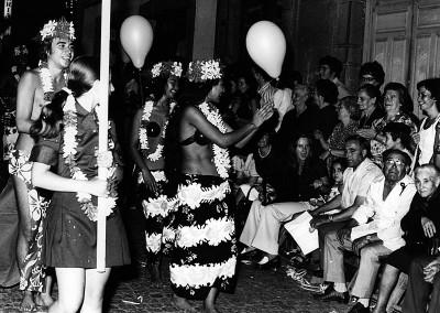 Año 1973 Hawai. Festival Folklórico de los Pirineos de Jaca © Archivo Municipal