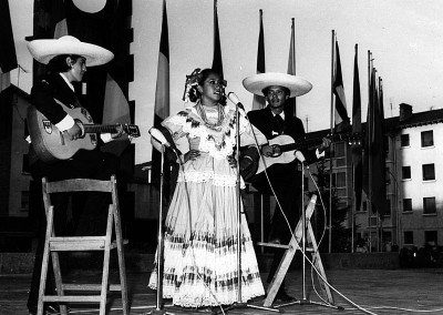 Año 1973 México. Festival Folklórico de los Pirineos de Jaca © Archivo Municipal