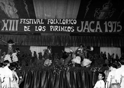 Año 1975. Festival Folklórico de los Pirineos de Jaca © Archivo Municipal