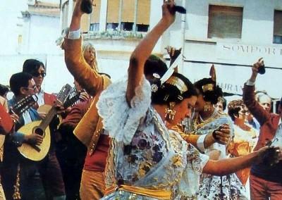 Año 1975 Grupo de Murcia. Festival Folklórico de los Pirineos de Jaca © Archivo Municipal