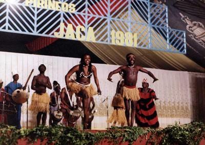 Año 1981 África negra. Festival Folklórico de los Pirineos de Jaca © Archivo Municipal