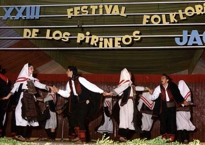 Año 1985. Festival Folklórico de los Pirineos de Jaca © Archivo Municipal