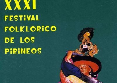 Año 1993. Festival Folklórico de los Pirineos de Jaca © Archivo Municipal