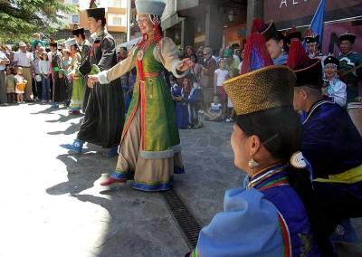 Año 2005 Buriatia. Festival Folklórico de los Pirineos de Jaca.