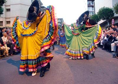 Año 2005 México. Festival Folklórico de los Pirineos de Jaca.