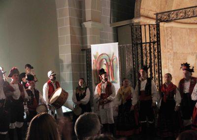 Inauguración de la Exposición 'Instrumentos sagrados. La voz del ritual' procedente del Museo de Urueña de Luis Delgado, acto que ha contado con la actuación musical del Grupo etnográfico Das Mariñas de Ferrol