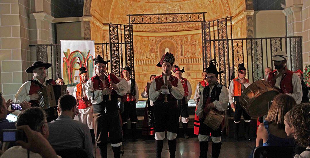 Inaugurada la exposición  'Instrumentos sagrados. La voz del ritual' en Jaca