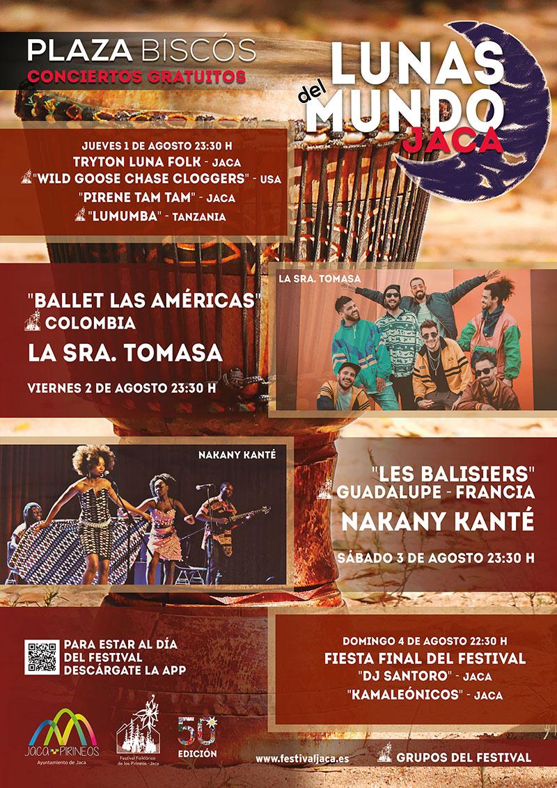 Cartel Festival Folklórico de los Pirineos en Jaca. 2015